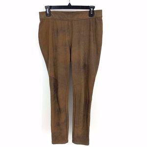 Free People Faux Leather Leggings Brown Riding 28